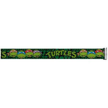 TMNT Cartoon TV Series Turtle Faces Close-Up Logo Cinch Waist Belts