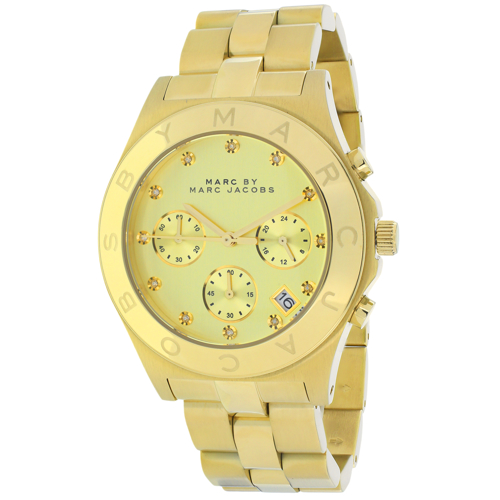 Marc Jacobs Marc by Marc Women's Blade MBM3101 Gold Stain...