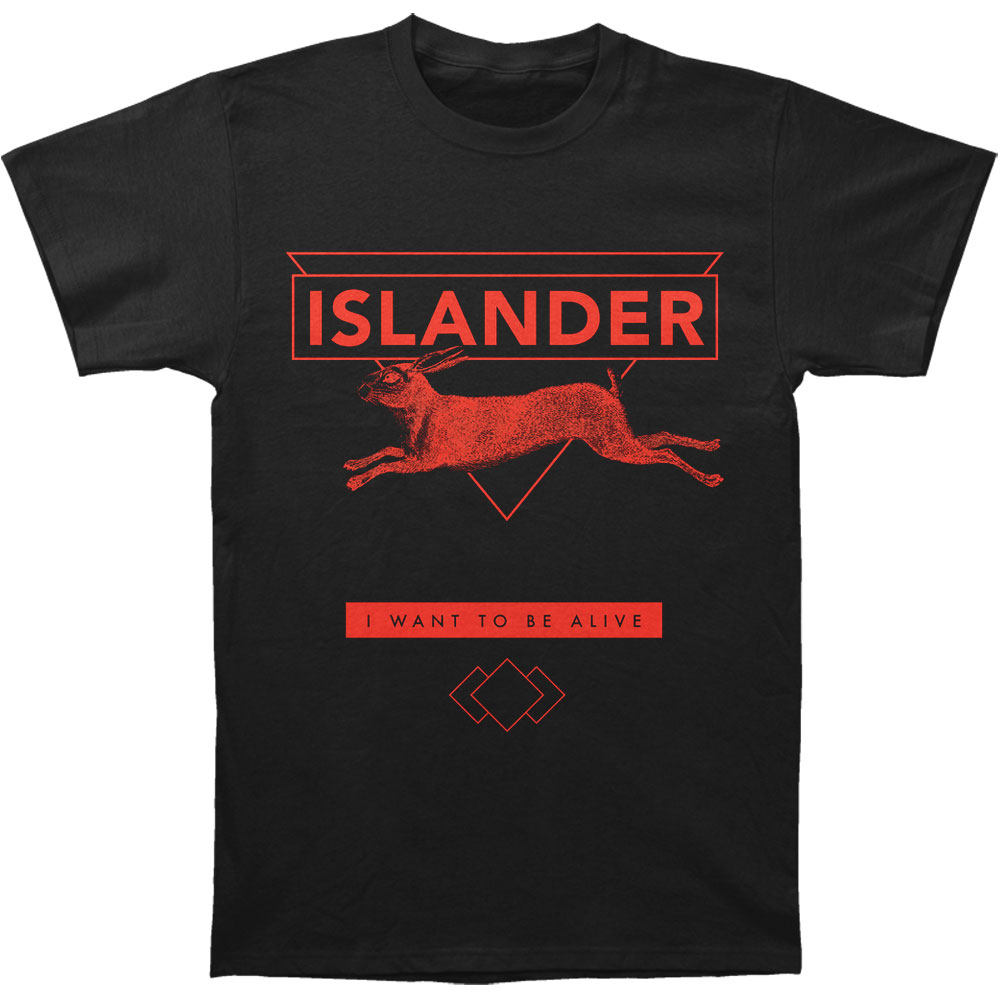 Islander Men's  Lucky Rabbit T-shirt Black