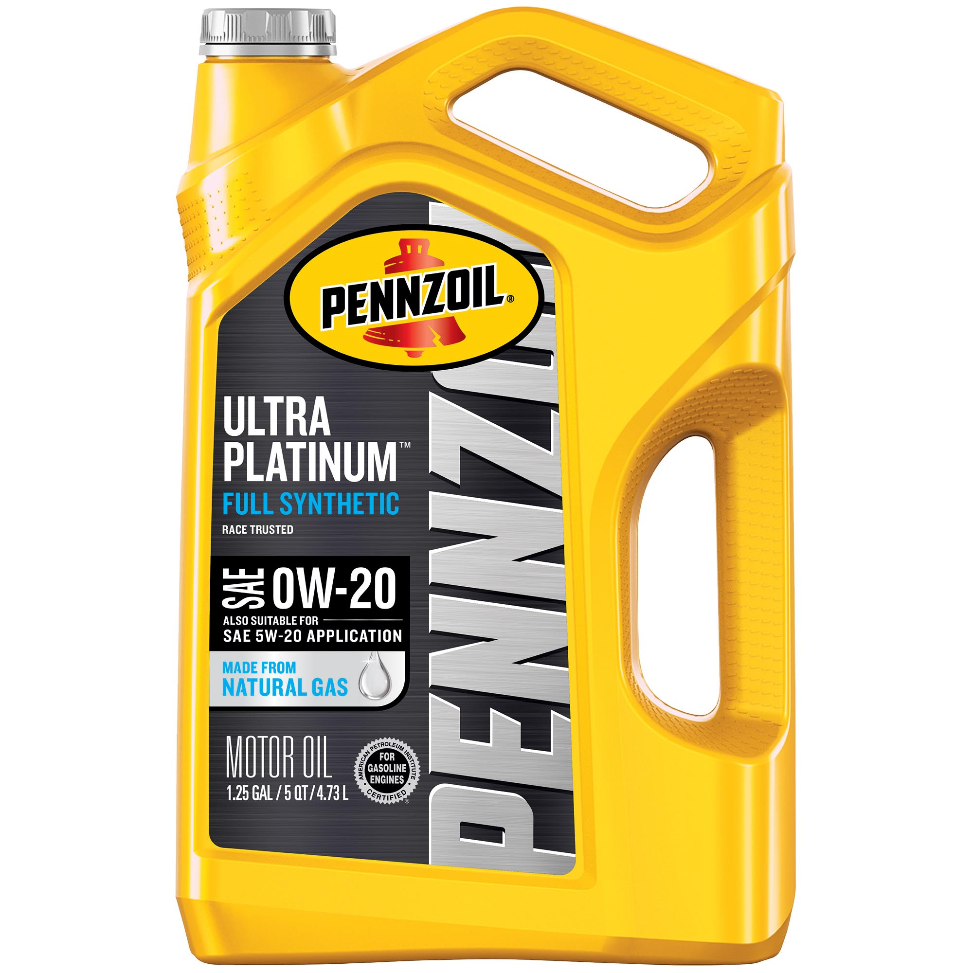 Pennzoil Ultra Platinum 0W-20 Full Synthetic Motor Oil, 5 Quart