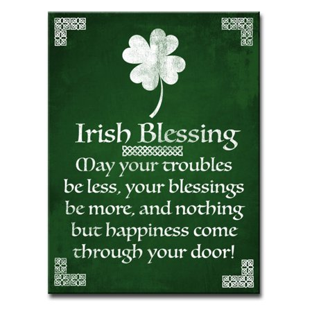 Ready2HangArt Irish Blessing Wrapped Canvas Wall Art