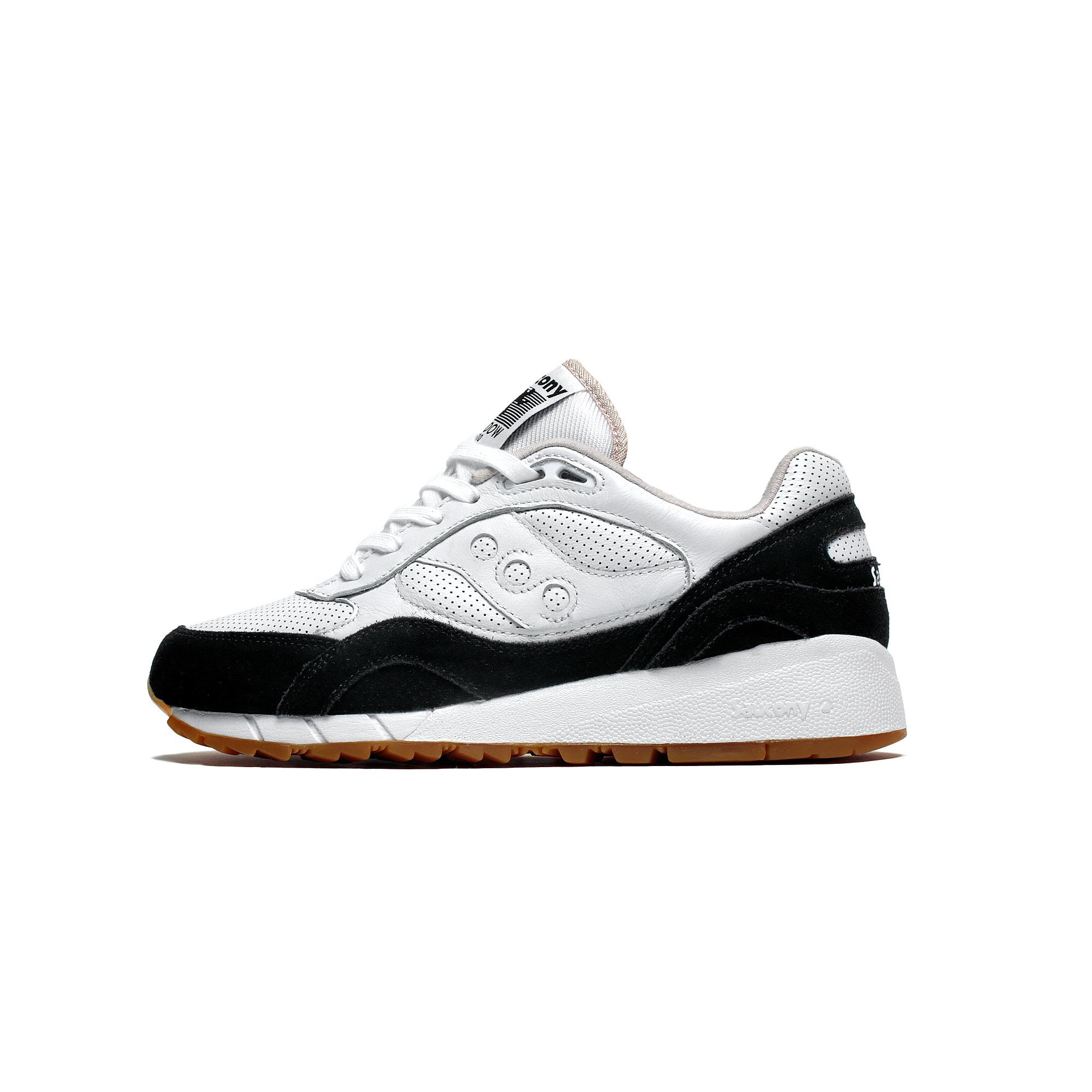 Mens Saucony Shadow 6000 HT Perf White Black Gum Brown S70349-2 by
