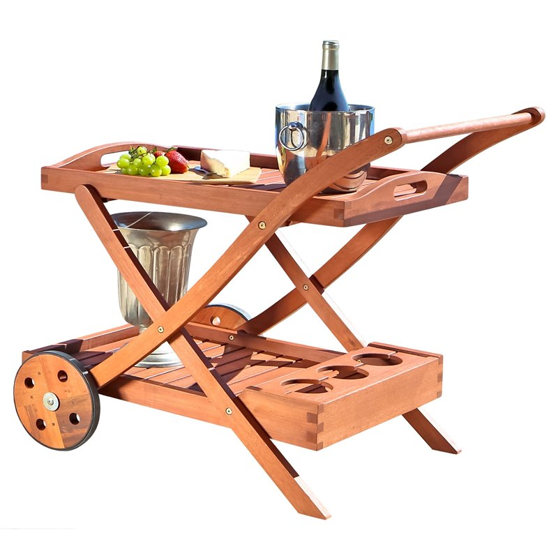 Eucalyptus Wood Serving Cart by DVG