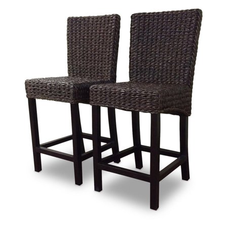 Wicker Paradise Barbados 25 in. Seagrass Counter Stool - Set of 2 ()
