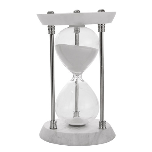 Sagebrook Home Decorative Sand Timer With Stone Base