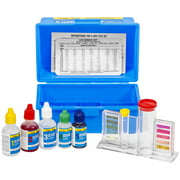 XtremepowerUS 5-Way Swimming Pool Test Kit pH Chlorine Bromine Alkalinity Chemistry Test with Case