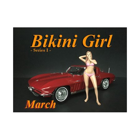 March Bikini Calendar Girl Figure for 1/18 Scale Models by American Diorama