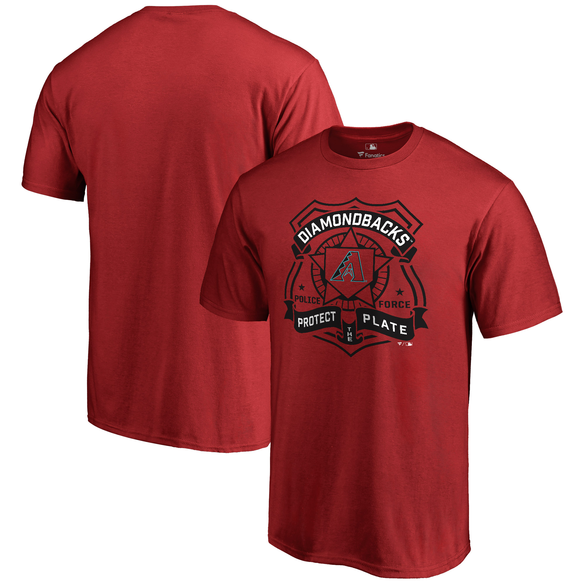 Arizona Diamondbacks Police Badge T-Shirt - Red