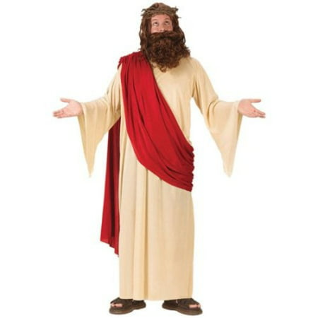 Jesus with Wig and Beard Set Adult Costume - One Size - Good Halloween Costume With Beard
