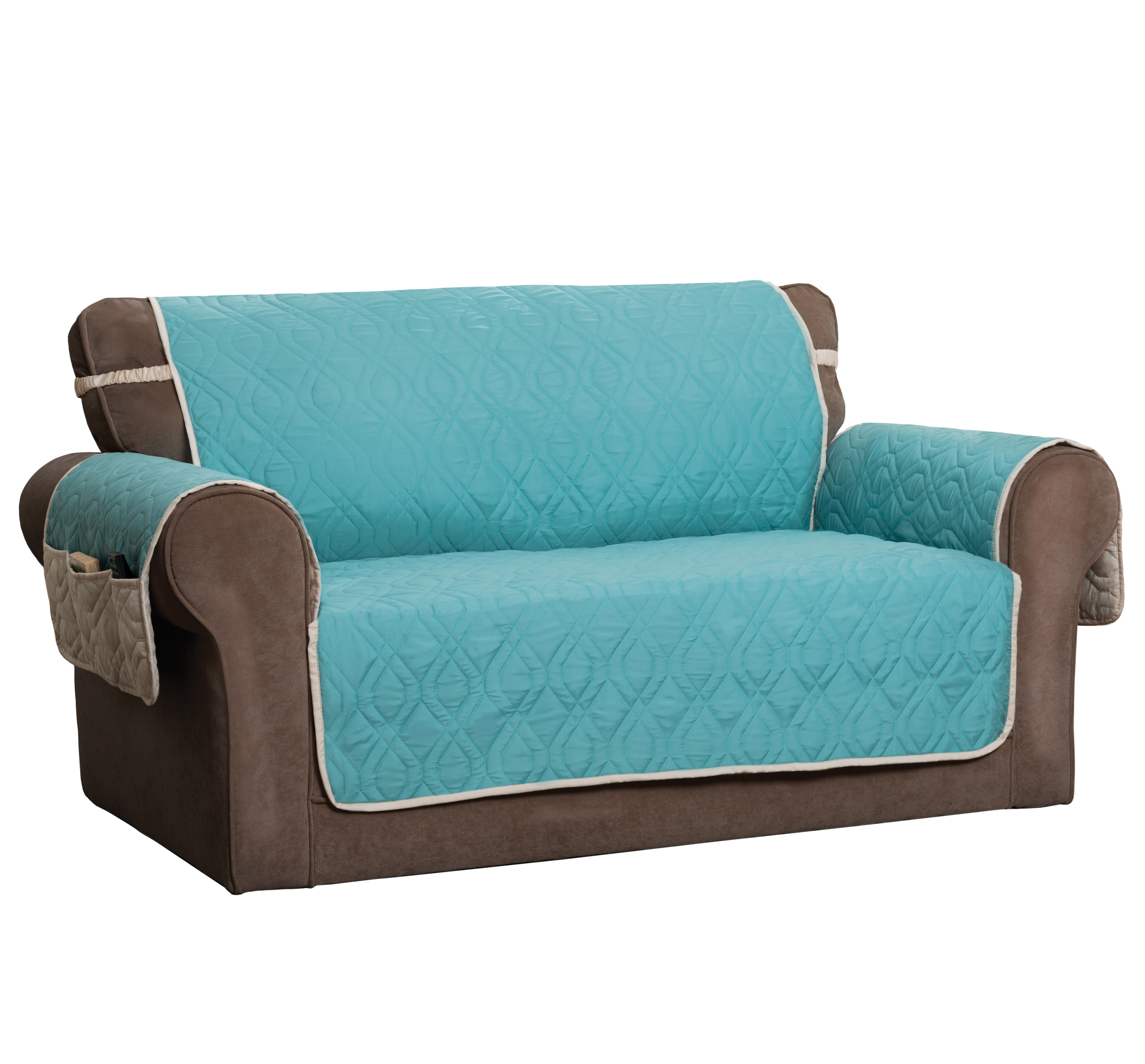 Innovative Textile Solutions Aqua Blue 5 Star Reversible Waterproof Quilted Recliner Furniture Cover