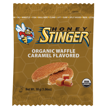 Honey Stinger Organic Energy Waffles, Caramel, 16 Ct