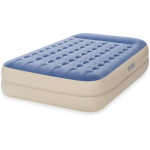 "Intex Queen 18"" Dura-Beam Standard Raised Pillow Rest Airbed Mattress"