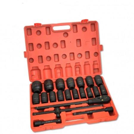 "22 Piece 3/4"" Drive Deep Impact Socket Set Sae Standard Industrial Grade Tools"