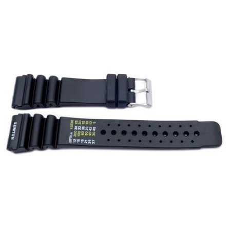 Black Citizen Style Resin Men's 24mm Watch Band 24 Mm Metal Watch Bands