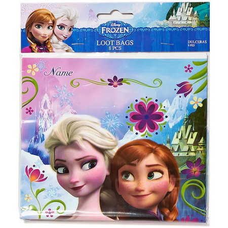 (4 Pack) Frozen Party Favor Treat Bags, 8ct