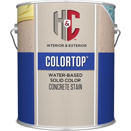 H&C Colortop water-based Solid Color Concrete Stain GULL GRAY (H&c Ultrapaver Water Based Natural Paver Sealer)