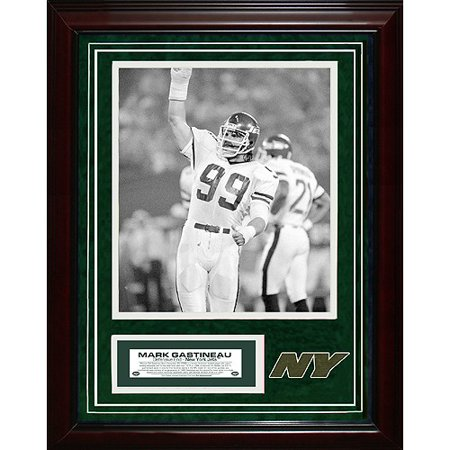New York Jets Mark Gastineau 11x14 Unsigned Turf Collage w/ 8x10 Photo