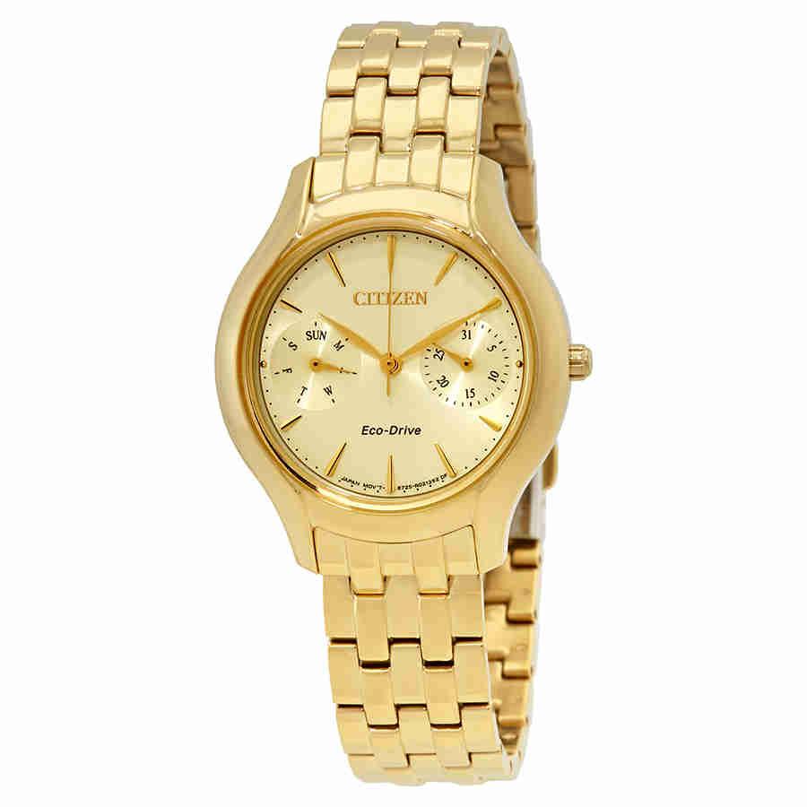Citizen Chandler Ladies Gold Tone Multifunction Watch ...
