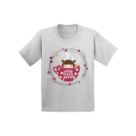 Awkward Styles Tea Party Shirt for Toddler Themed Party Little Girl in the Tea Cup T Shirt Cute Tea Cup Tshirt It's My Tea Party Tshirt Birthday Gifts for Girls Tea Cup Party