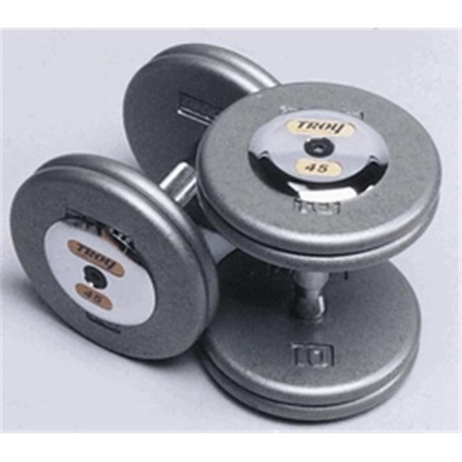 Troy Barbell HFD-7.5C Grey Troy Pro-Style Cast dumbbells ...