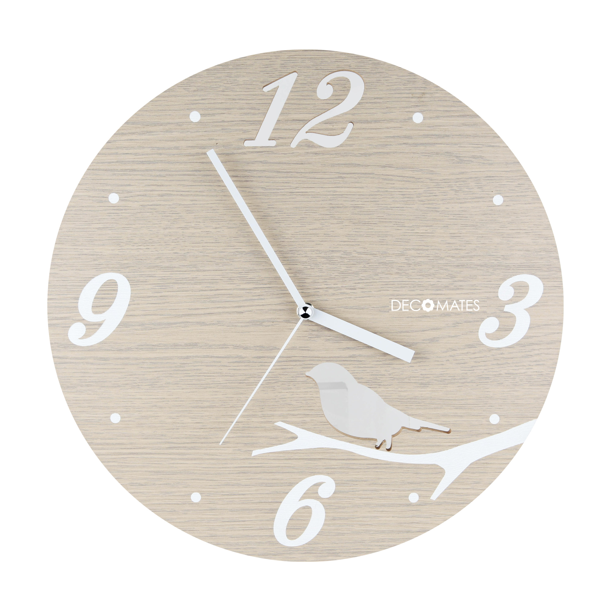 DecoMates NonTicking Silent Wall Clock Walmartcom