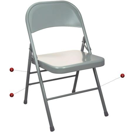 Advantage Series Triple Braced And Quadruple Hinged Metal Seat, Multiple Colors