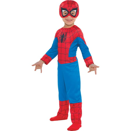 Garbage Man Halloween Costume Toddler (Suit Yourself Classic Spider-Man Halloween Costume for Toddler Boys, 3-4T, Includes)