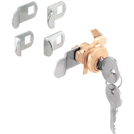 Prime Line U9940 5 Cam Brass Plated Diecast Steel Mail Box Lock