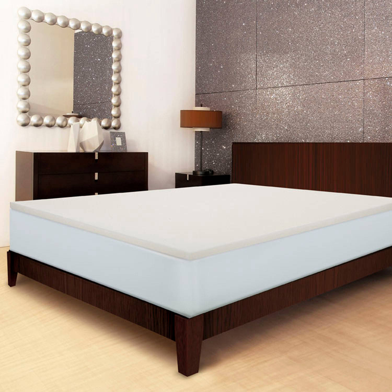 free bedding today overstock toppers topper memory touch of shipping deluxe mattress foam bath inch comfort serta product