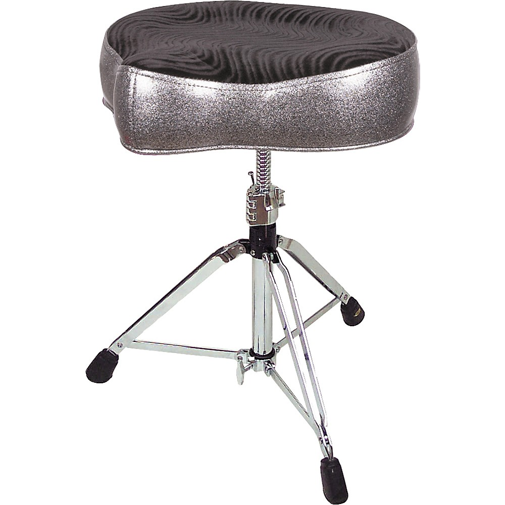 Pork Pie Big Boy Bicycle Throne Silver Sparkle with Black Swirl Top by Pork Pie
