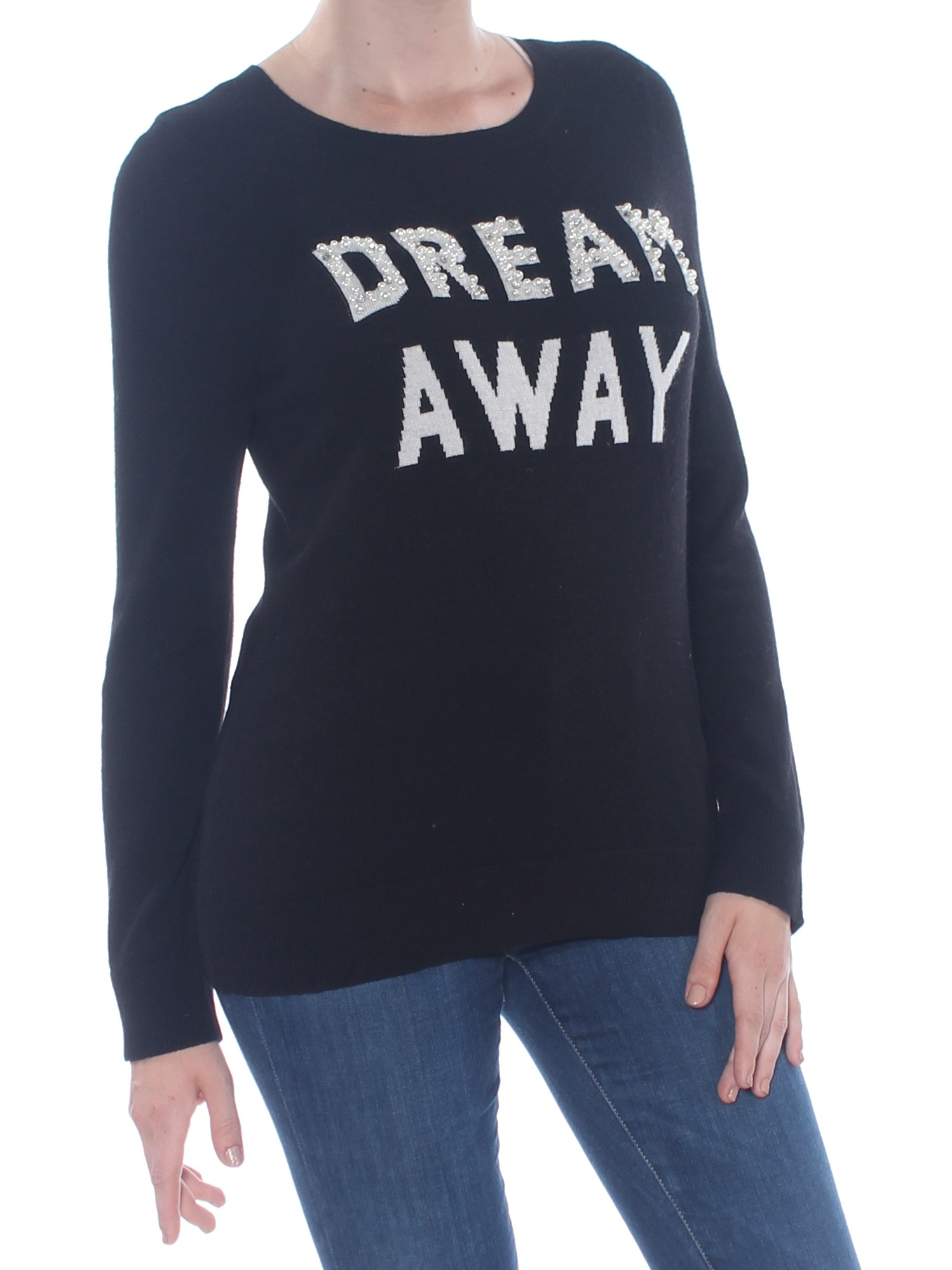 I-N-C Womens Embellished Dream Away Pullover Sweater