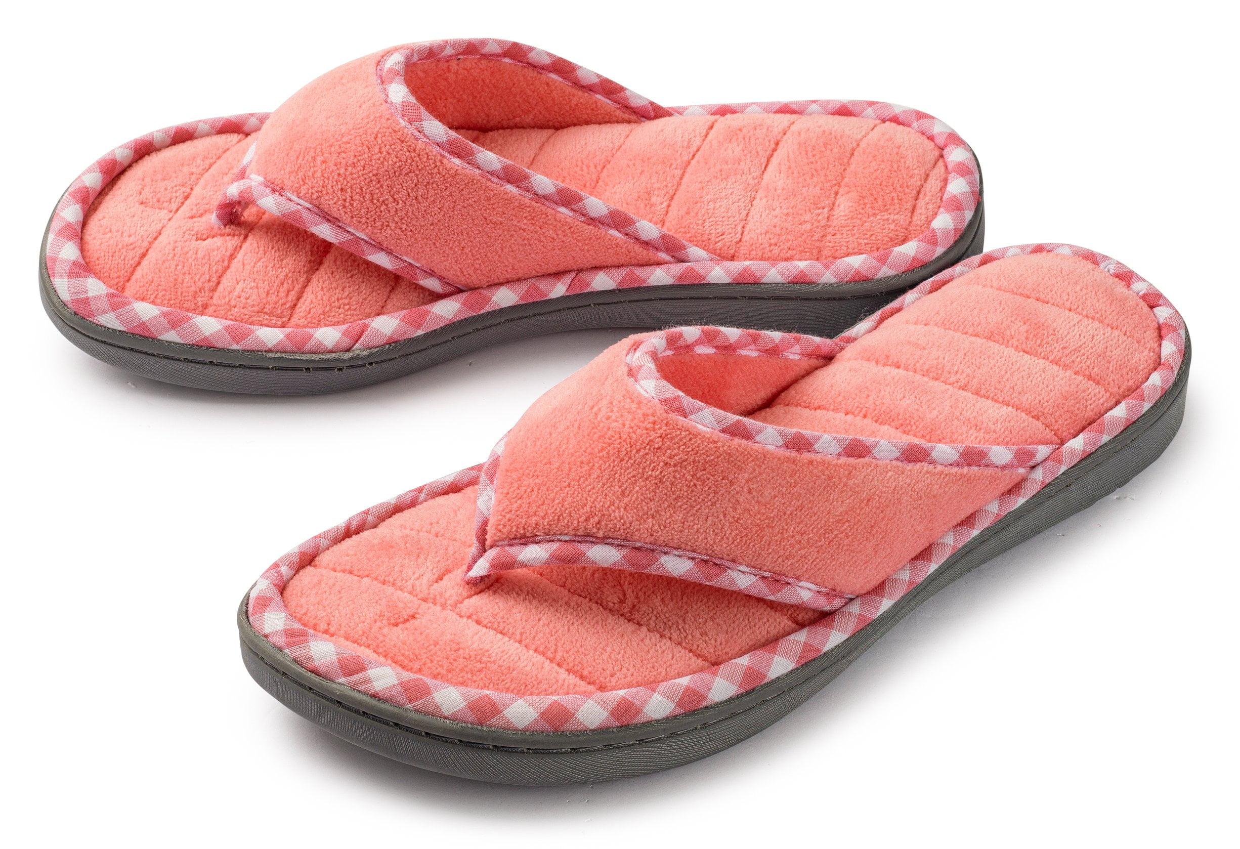 peach slippers