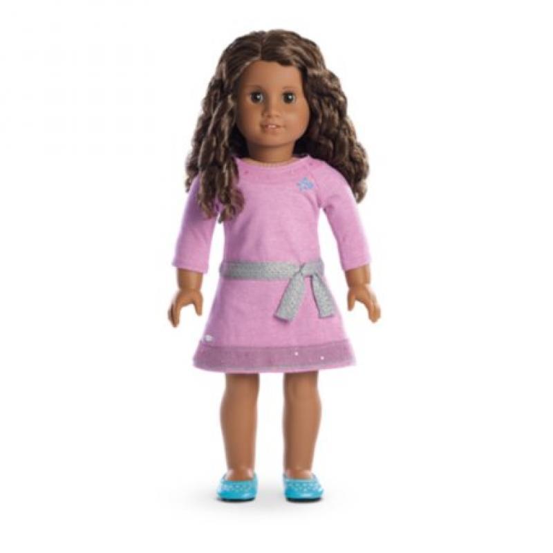American Girl Truly Me™ Doll: Dark Skin, Curly Dark Brown...