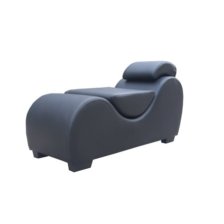 3 Piece Leather Chaise - Kingway Faux Leather Yoga & Stretch Relax Chaise Black