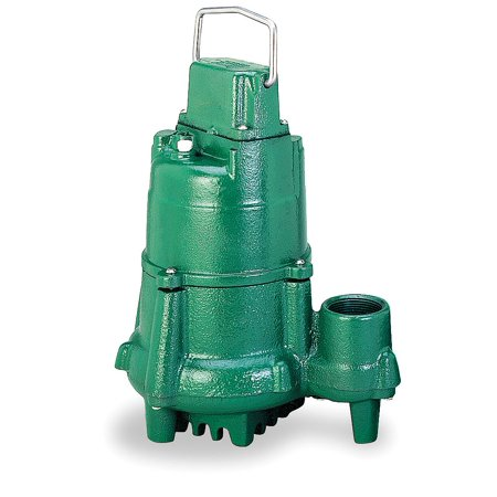 Zoeller 1/2 HP Submersible Sump Pump, None Switch Type, Cast Iron Base Material - N98