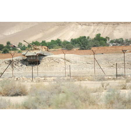 LAMINATED POSTER Destroyed tank in the Jordan Valley, West Bank Poster Print 24 x 36 (Halloween City West Jordan Hours)
