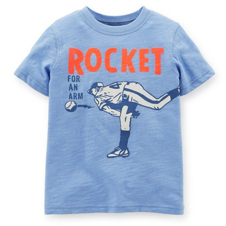 Carters Baby Clothing Outfit Boys Rocket Pitcher Tee T-shirt Blue