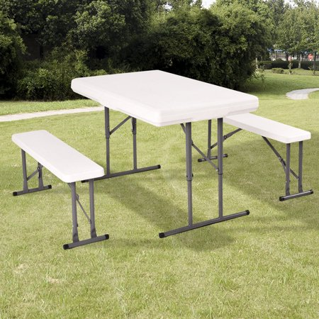 Costway Table And Benches Set Chair Seat Folding Picnic Patio Garden Outdoor Furniture