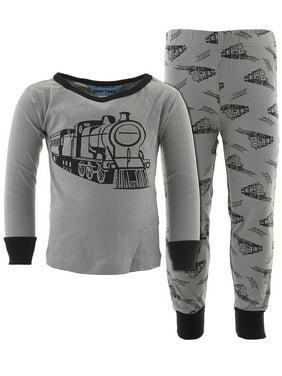 Dead Tired Boys Train Gray Cotton Pajamas