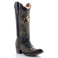Gameday Boots Womens College Team Colorado Buffs Black Gold COL-L015-1