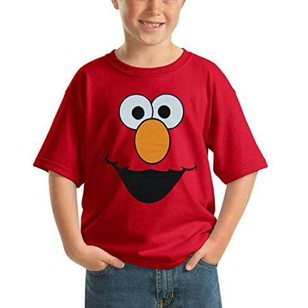 Sesame Street Elmo Face Youth Kids T-Shirt-Youth X-Large [18/20]](Kids Elmo)