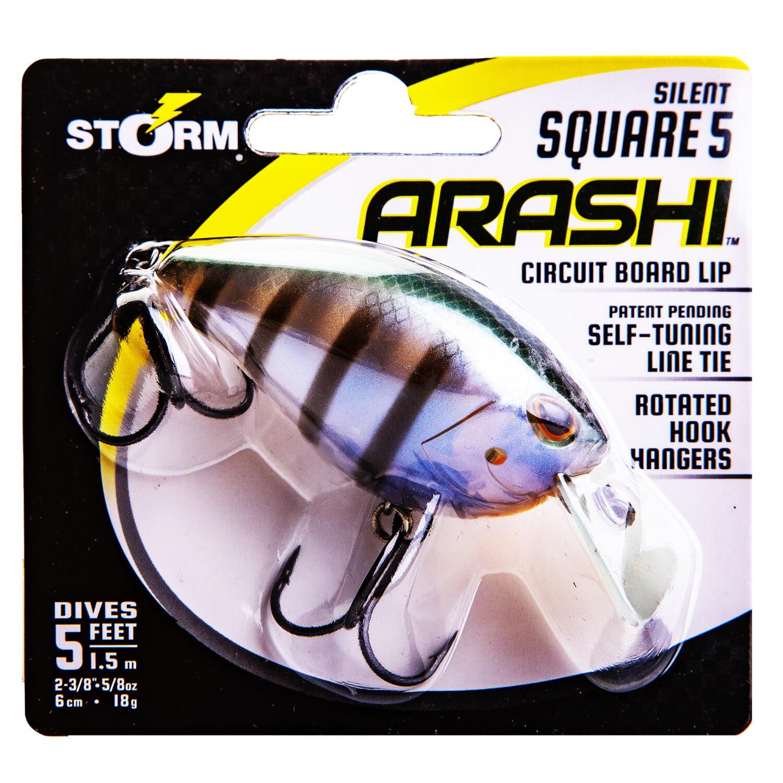 Storm Arashi Silent Square 5 Circuit Board Lip Crankbait Lure Baby Bass New