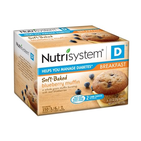 Nutrisystem D Blueberry Muffins  2 Oz  4 Count