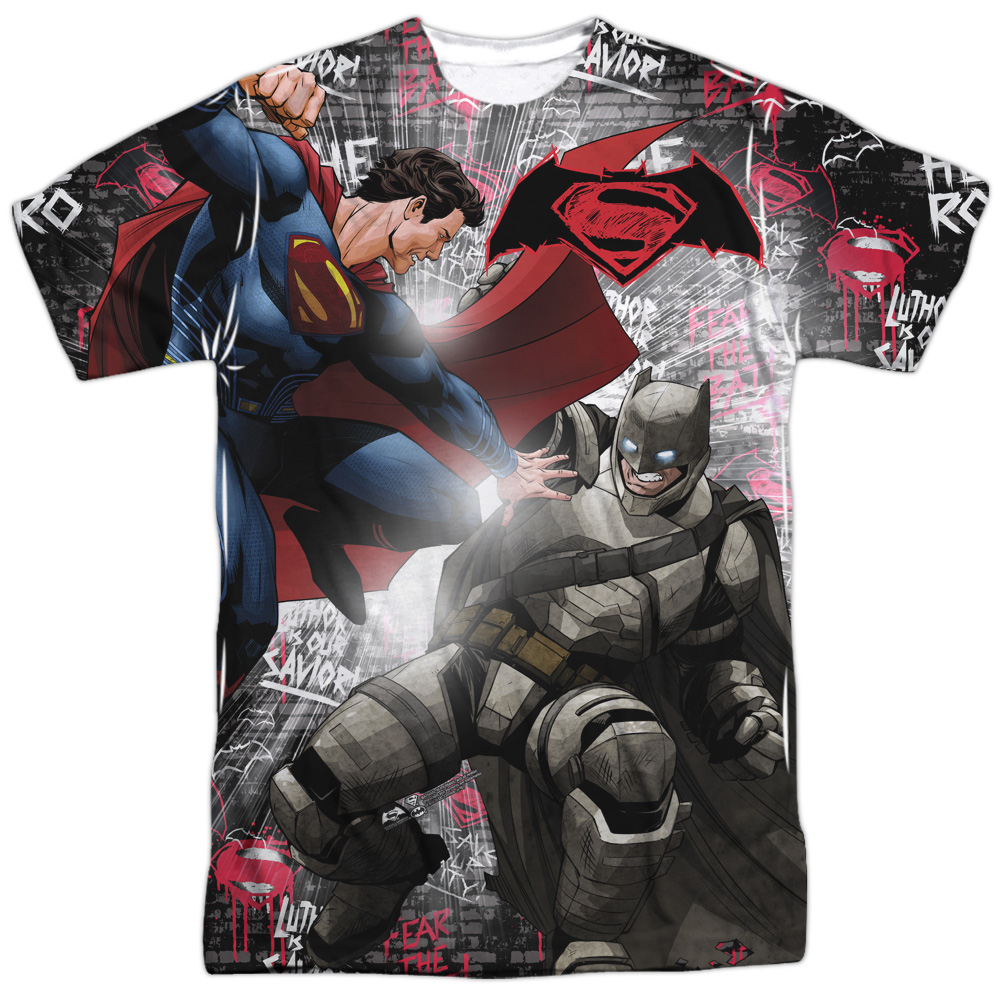 Batman Vs Superman Showdown (Front Back Print) Mens Sublimation Shirt