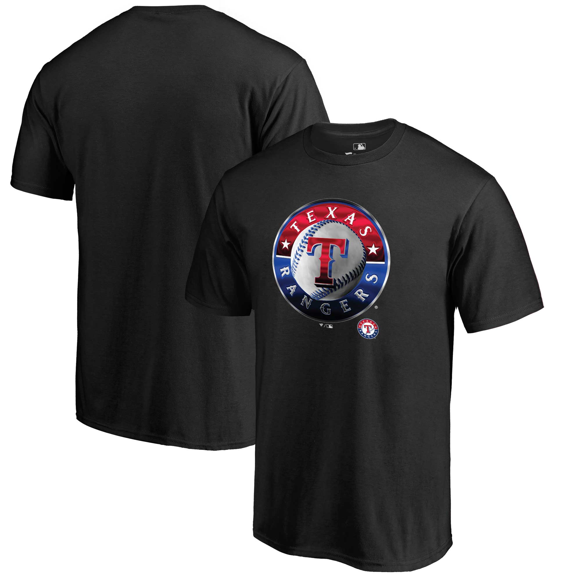 Texas Rangers Fanatics Branded Midnight Mascot T-Shirt - Black