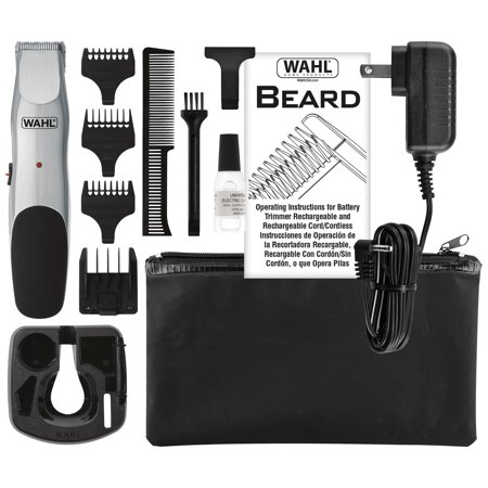 WAHL Beard Trimmer, Cord or Cordless with Self Sharpening Steel Blades, Model