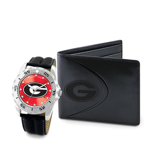 Georgia Watch and Wallet Gift Set