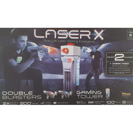 Laser X Real Life Laser Gaming Experience - 2 Blasters + Gaming