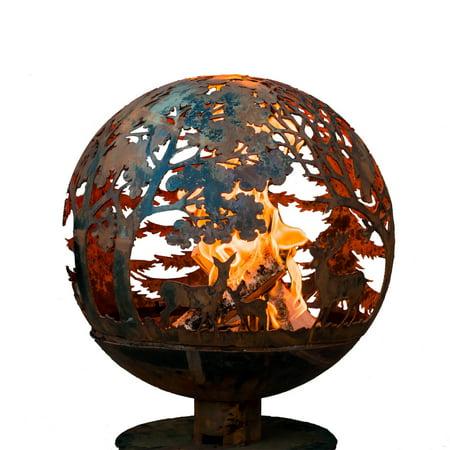 Fancy Flames Wildlife Globe Wood Burning Fire Pit - Fancy Flames Wildlife Globe Wood Burning Fire Pit - Walmart.com