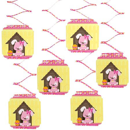 Dog Party Decorations (Girl Puppy Dog - Party Hanging Decorations - 6)